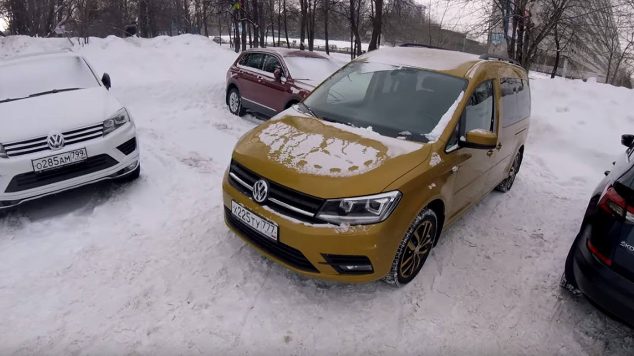 Анонс видео-теста Взял Volkswagen Caddy Maxi - дизель тащит!